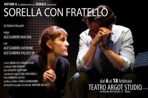 Sorella con fratello, in scena al Teatro Argot Studio
